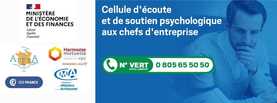 Mise en place d'une cellule d'écoute et de soutien psychologique aux chefs d'entreprise