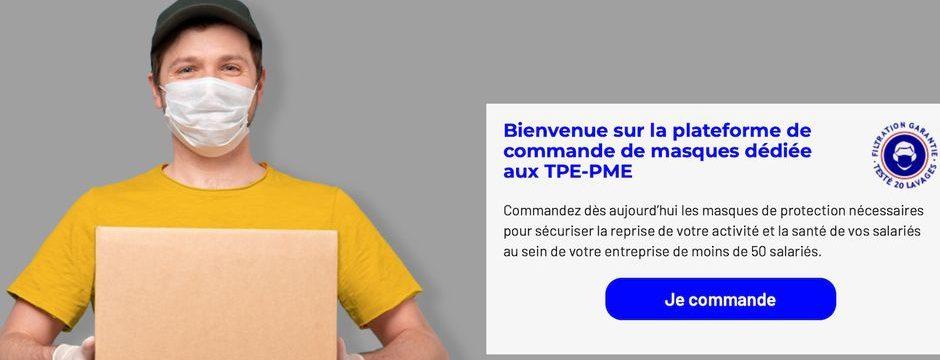 Plateforme de commande de masques dédiée aux TPE-PME