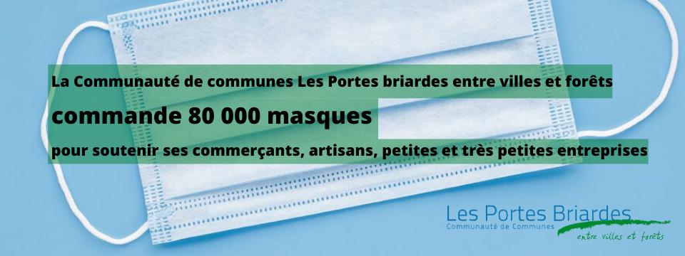 La CCPB a commandé 80 000 masques pour soutenir ses acteurs économiques