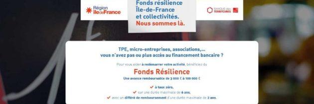 Fonds de Résilience Île-de-France et Collectivités