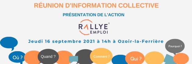 Information collective 16 septembre 2021 : Présentation du Rallye Emploi